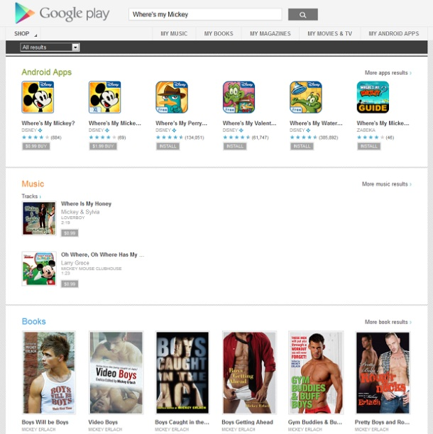 Mickey Mouse na Google Play