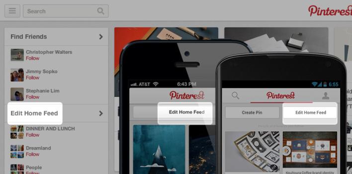 Přizpůsobení Pinterestu